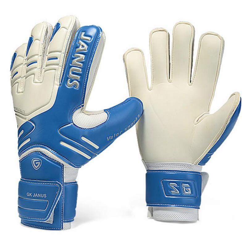 JANUS Brand Professional Goalkeeper Gloves Finger Protection Thickened Latex Soccer Football Goalie Gloves Goal keeper Gloves(China (Mainland))