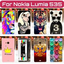 2016 новое для Nokia Microsoft Lumia 535 чехол крышка, Цветной живописи для Microsoft Lumia 535 телефон защитный чехол