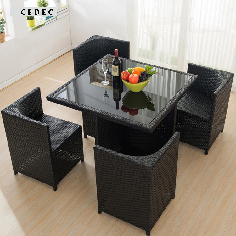 Chaises en rotin en plastique promotion achetez des for Table et chaise en osier