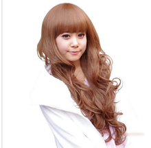 zhaoxia++07897700@Q8 ++Express delivery USA Fashion Cosplay Sexy Womens Girl Lady Light Brown Curly Long Hair Full Wigs - zhao hongxia's store
