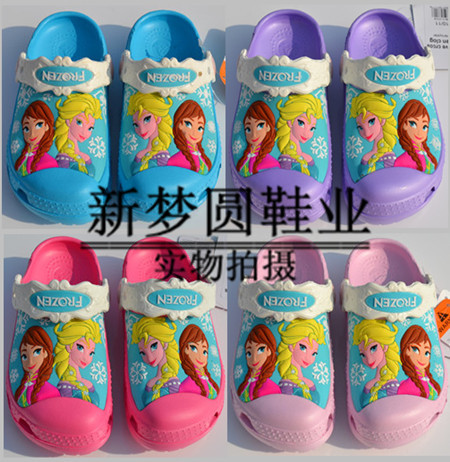 2016 Toddler summer style Brand children's sandals 3D cartoon Elsa Sofia Dora Princess girls beach slippers kids shoes sandal(China (Mainland))