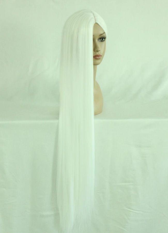 Гаджет  100cm Long final fantasy-Sephiroth White Cosplay Costume Wig None Волосы и аксессуары