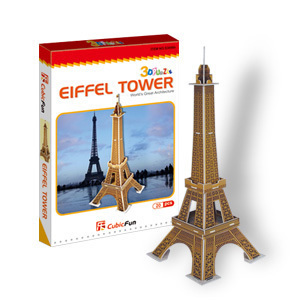 Paper model 3D models kids toy jigsaw game Eiffel Tower baby toys S3006h freeshipping(China (Mainland))