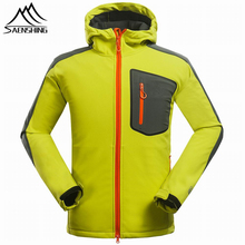 2016 New Softshell Jacket Men Waterproof Windproof Coldproof Fleece Jacket men Outdoor Camping Hiking Warmth Sports jackets Coat(China (Mainland))