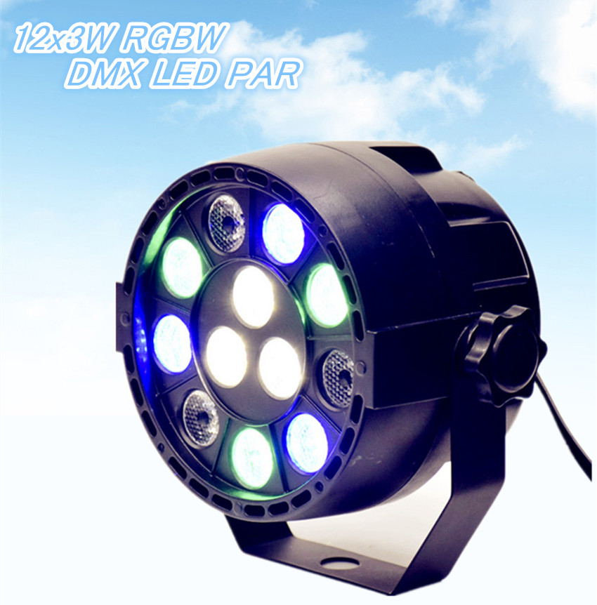 Eyourlife Hot! 1PCS DiSCO LAMP 12x3W LED PAR LIGHT DJ LIGHT 36W DMX LED RGBW STAGE LIGHT HOME PARTY LIGHTS FOR Entertainment(China (Mainland))