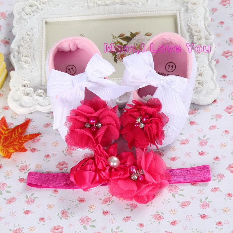Ivory Flower Girl Shoe Toddler Headband,little girl baby walker,Newborn Baby Girl Baptismal Set,newborn booties(China (Mainland))