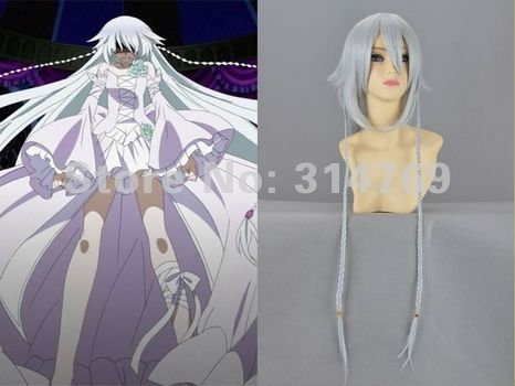 39inches Anime Pandora Hearts Black Butler Under Taker Long Wigs Cosplay Wigs,Heat-Resisting Amime Cos Hair Halloween Cosplay