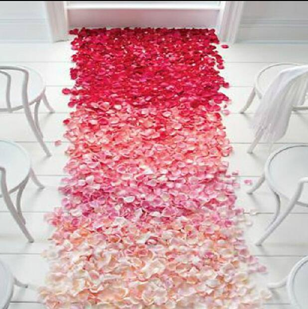 Petals Roses 1000 Pcs Silk Fabric Flower Rose Petals Wedding Party Decoration Table Confetti Free Shipping(China (Mainland))
