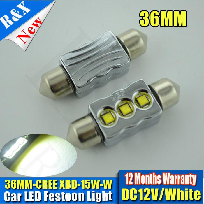 15W led festoon cree canbus 36mm /39mm /41mm auto car bulb interior light dome lamp c5w led 12v reading lights no ERROR free(China (Mainland))