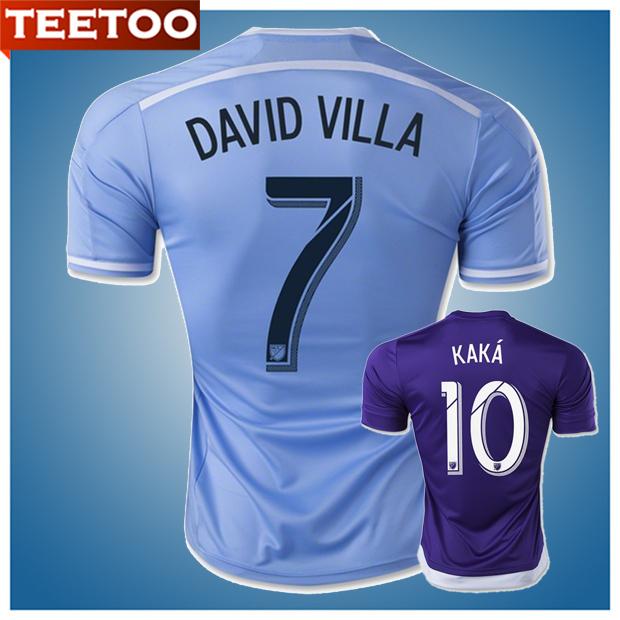 Maillot MLS Soccer Jerseys 2015 NYCFC Away New York City FC Jersey David Villa Frank Lampard and KAKA Jersey Orlando City(China (Mainland))