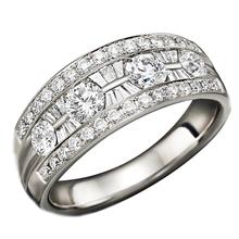 Роскошный Удостоверяется 1.2 CTTW Природных Алмазов 18 К Белое Золото Кольцо С Бриллиантом Золотые Украшения, Обручальные Кольца Для Женщин Свадьба полос(China (Mainland))