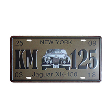 Buy KM 125 Car Number License Plates Pub Garage Bar Iron Painting Decor Retro Metal Tin Signs Art Craft 30x15cm Wholesale A576 for $3.98 in AliExpress store
