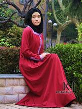 2 Colors New women dress long sleeve abaya full length turkish women clothing free shipping daewoo nexia LD113(China (Mainland))
