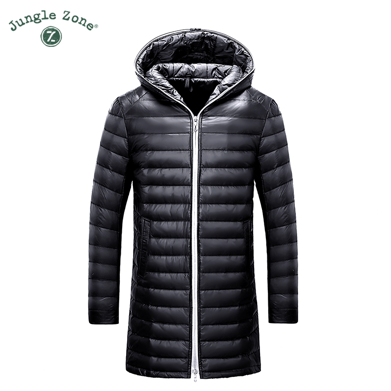JUNGLE ZONE 2016 Winter new Men's Down Jacket White Duck Down Jacket Coat Men's brand Casual Thin Hooded Down Jackets(China (Mainland))