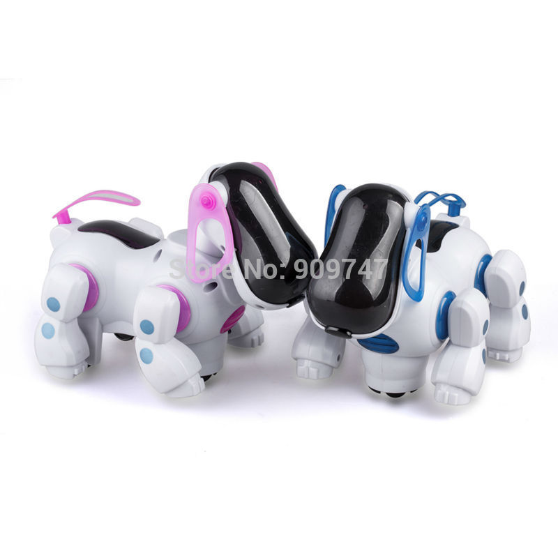 Lovely Electronic Robot Walking Dog Puppy Toy Music Shine Pet Safe Kids Toy Lights with retail box Freeshipping(China (Mainland))