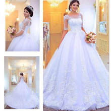 Buy Lace Wedding Dresses Ball Gown Tulle Sleeves Wedding Gowns Weding Bridal Bride Dresses Weddingdress vestidos de noiva for $171.00 in AliExpress store