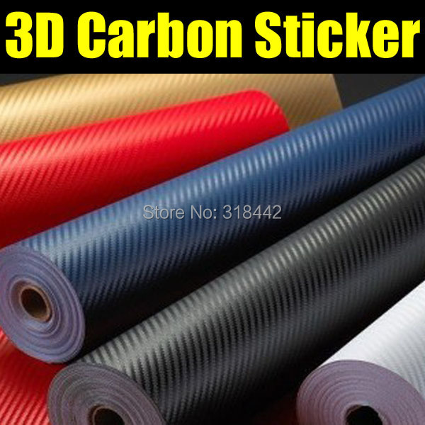 Free shipping 3D carbon wrap vinyl without air bubbles with cheapest price 1.27*30m per roll(China (Mainland))