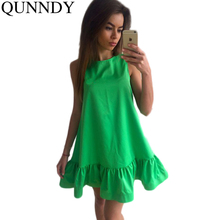 Vestidos Sexy Ruffles Women Dress Summer Sleeveless Casual A Line Bodycon Dresses Party Cocktail Short Mini Tube Beach Dress(China (Mainland))