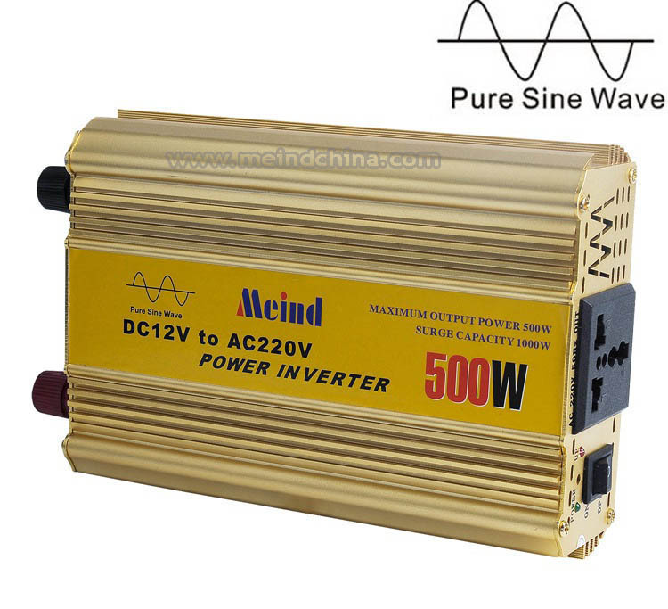500W Power Inverter Pure Sine Wave 12V DC to 220V AC Converter Car inverters AC Adapter Power Supply Dropshipping(China (Mainland))