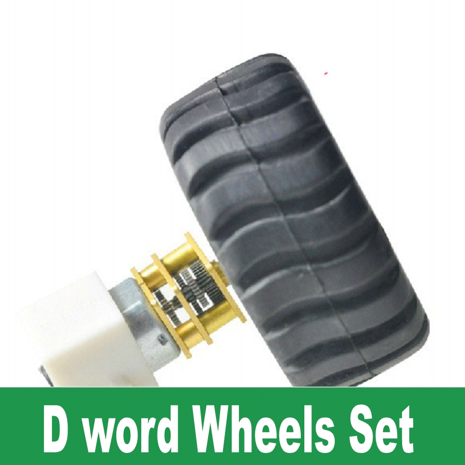 N20 12MM Geared Motor +D-word Wheel package Remote control car DIY Products Free Shipping(China (Mainland))
