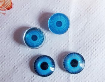 Free shipping!!! DIY Toy findings-10mm round blue color emulational Doll eye
