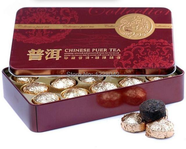 Горячая распродажа черный чай вкус пу эр, Пуэр чай, Китайский мини юньнань чай пуэр, Подарок жестяной коробке, Зеленый для похудения кофе бесплатная доставка