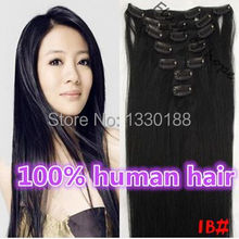 2014 Best Selling 18inch 100% Remy Hair Hair Clip In Human Hair Extensions 10pieces/Set 11 Colors available 100gram