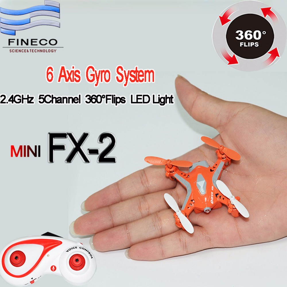 Kids Toys Fineco FX-2 RC Mini quadcopter 2.4GHz rc helicopter 5CH 6 axis with Flashlight mini quadcopter toy(China (Mainland))