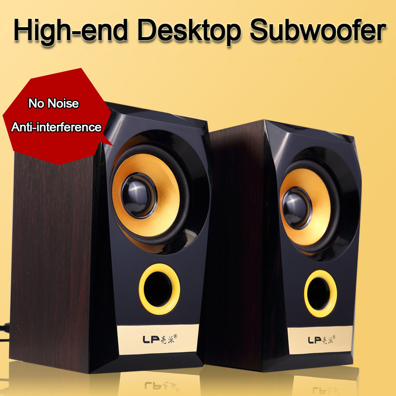 LP D800 Desktop PC Laptop Computer Audio Multimedia Mini Wood Speaker 2.0 Subwoofer Speakers USB Alto Falante Altavoces Altavoz(China (Mainland))