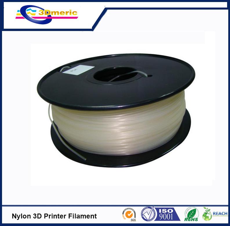Free shipping 3d printer filaments PA Nylon 1 75mm 1kg 2 2lb Plastics Resin Consumables For