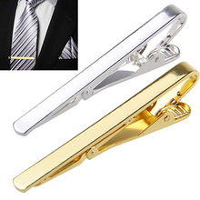 2015 Fashion Metal Silver Gold Simple Necktie Tie Bar Clasp Clip Clamp Pin for men gift 6X8L(China (Mainland))