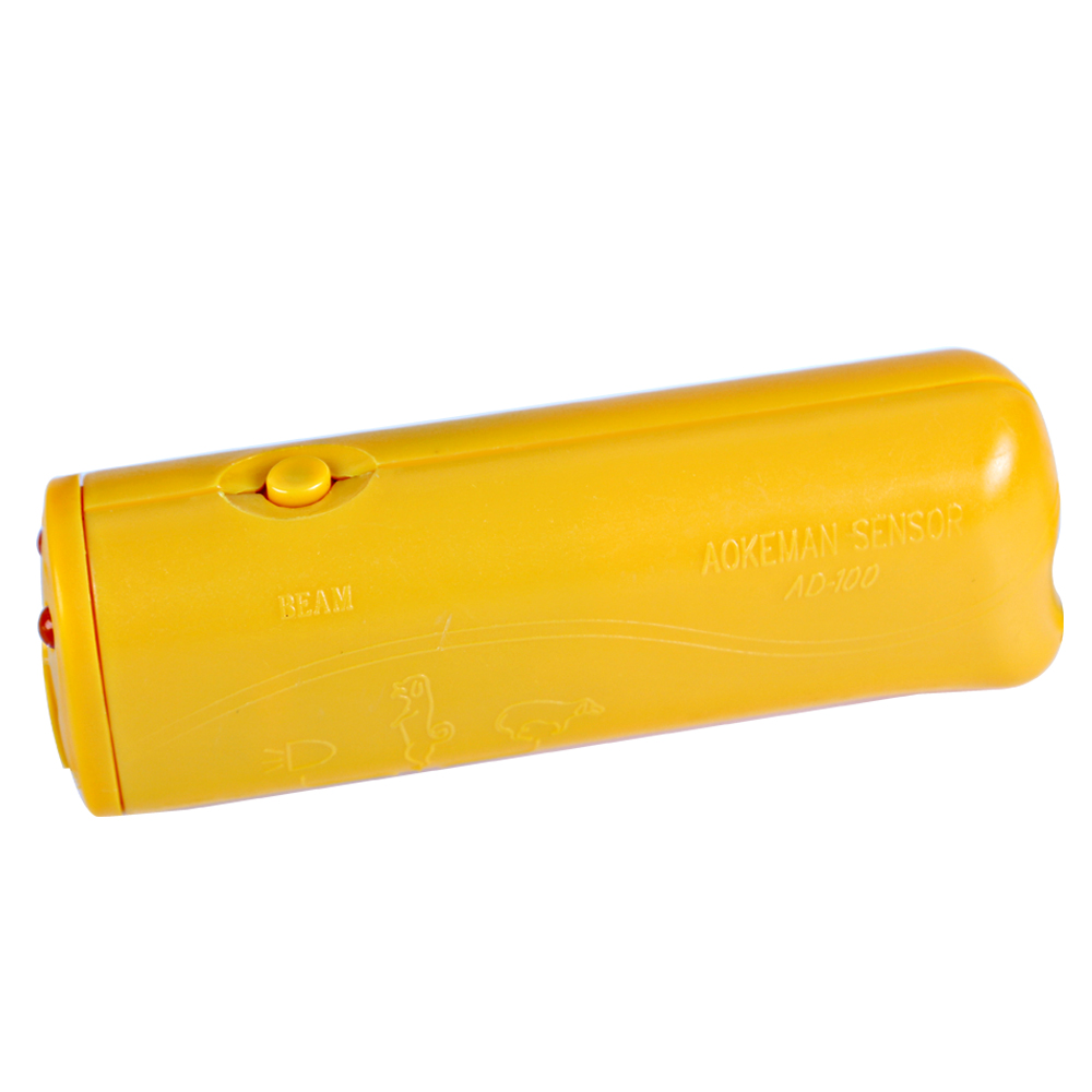 Ultrasonic Dog Repeller Anti Barking Dog Chaser Stop Dog Supplies Portable Yellow 3 in 1 Pet Training Device(China (Mainland))