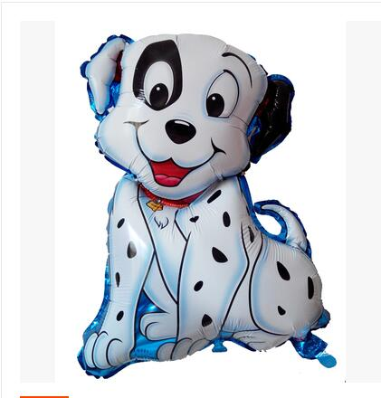 1piece Happy Together lovely Spotted Dog Shape Foil Walking Helium Balloon Automatic Sealing As Gift baby toys(China (Mainland))