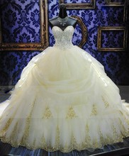 Luxury Embroidery Beded Ball Gown Wedding Dress 2016 Vintage Cathedral Train Vestido De Noiva 2015 Plus Size Wedding Gowns(China (Mainland))