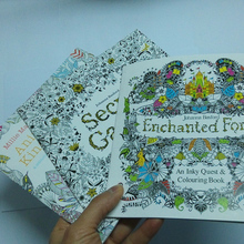 3pcs/lot coloring books for adults Secret Garden+Animal Kingdom+Enchanted Forest libros adultos colorear 18.5×18.5 Painting Book