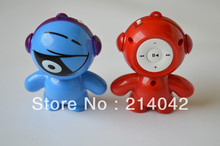 New arrival mini portable Cartoon mp3 player music player w/ card slot support micro sd card TF card(China (Mainland))