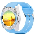 V8 Smart Watch Round MTK6261D Smartwatch with Camera SIM Card Reloj Inteligente for ios Android Phone