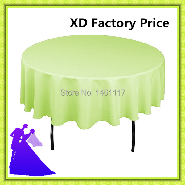 "Free shipping hot selling 120"" polyester table cloth for hotel/restaurant(China (Mainland))"