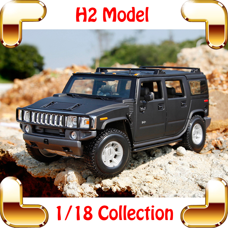 New Year Gift Maisto H2 1/18 Large Model SUV Car Collection Vehicle Model Scale Metallic Jeep Truck Machine Decoration Toys(China (Mainland))
