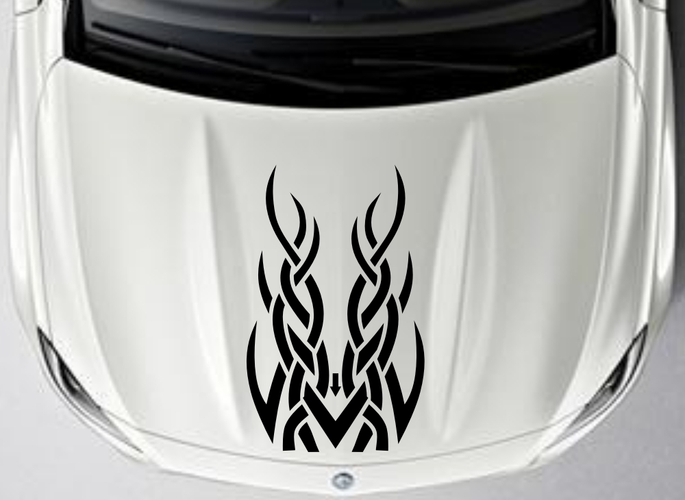 Car Truck Decal Vinyl Graphics stickers Hood decals Tribal Racing Design #CG306(China (Mainland))