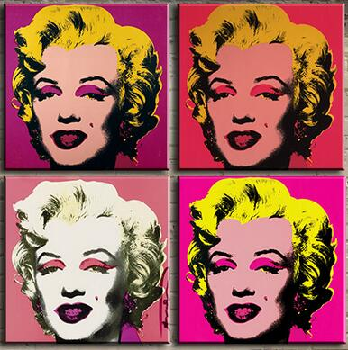 New Fashion Andy warhol 9pcs marilyn monroe wall art oil painting Painting on canvas Pictures For Living Room(China (Mainland))