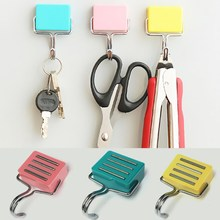 Wholesale New Quality Lovely Ultra-Powerful Super Strong Magnetic Hanger Hook Microwave Oven Kitchen Refrigerator Magnet Hook(China (Mainland))