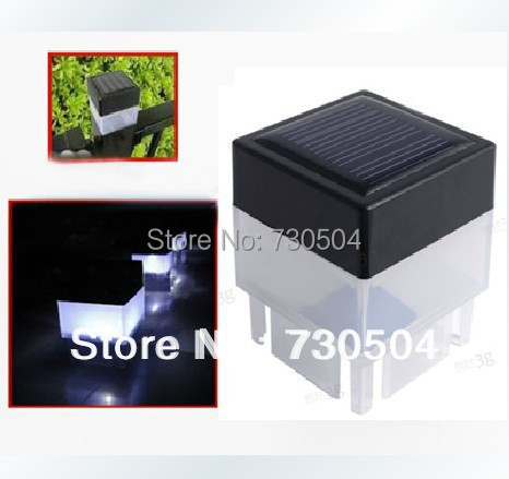10PCS/Lot Solar Powered Fence Post Pool Garden LED Light Outdoor Decorative Waterproof Lamps(China (Mainland))