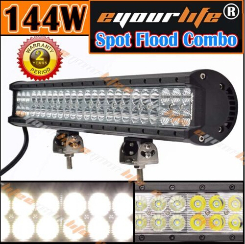 2015 Hot Sale CREE Eyourlife 23 144W SPOT FLOOD WORK DRIVING LED LIGHT BAR WD SAME 108W 126W For SUV<br><br>Aliexpress