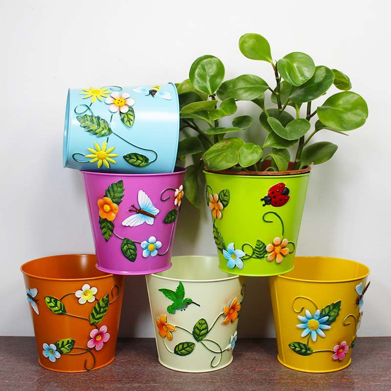 Free Shiping Metal Flower Pots Garden Planters Garden