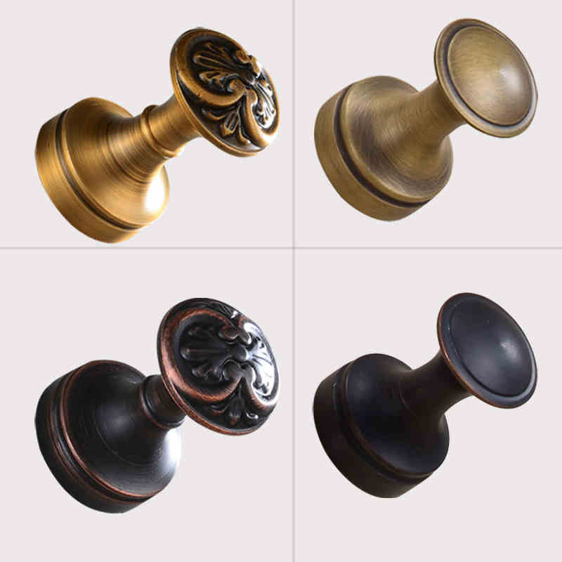 2016 Newly DIY Mini Coat Hanger Hook Wall Mounted Brass Towel Hooks Antique Brass & Oil Rubbed Bronze Finished 1pc(China (Mainland))
