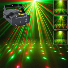 New Mini Portable 110-240V  Red Green Laser Meteor Projector Lights DJ KTV Home Party Dsico Xmas LED Stage Lighting O100B(China (Mainland))