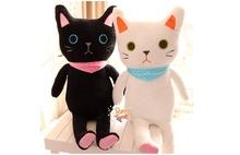 "Super Large 90cm/36"" Cute Japan Amuse By Dream Black Or White Cats SUPER SOFT Stuffed Plush Toy Pillow CurshionGift"