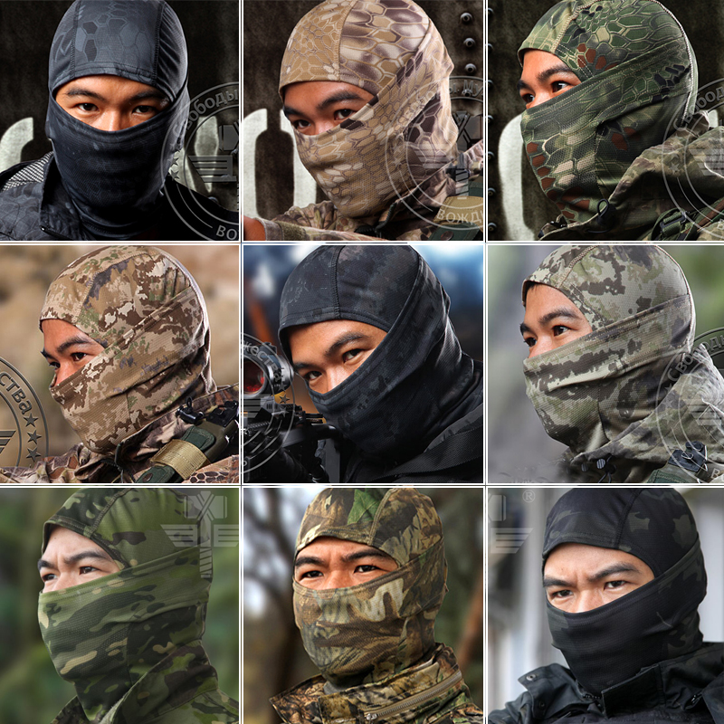 16 Color Tight Multicam Camo Balaclava Tactical Airsoft Hunting Outdoor Paintball Motorcycle Ski Cycling Protect Full Face Mask(China (Mainland))
