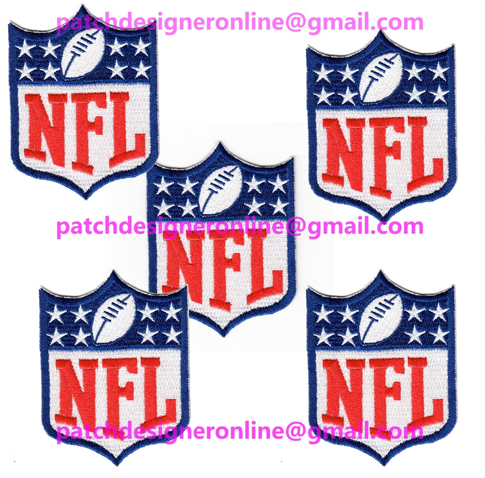 LOTS 5 PCS NEW FOOTBALL National Football Jersey Sports Iron On sew on Embroidered Patch Badge 3.4'' x 2.6''(China (Mainland))
